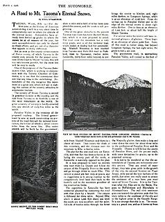1906 The Automobile A Road to Mt. Tacoma's Eternal Snows pp 455