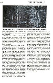 1906 The Automobile A Road to Mt. Tacoma's Eternal Snows pp 456
