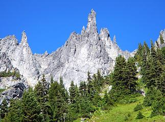 Spires On The Ridge Between American Border Peak And Mount Larrabee