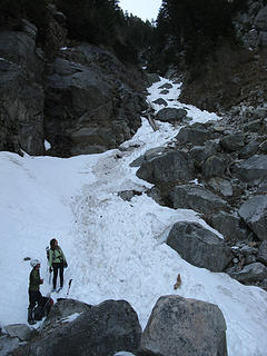 Carla and Erin admire the gully