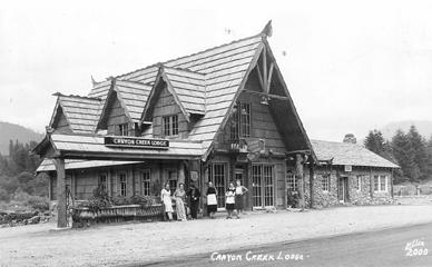 Canyon Creek Lodge about 1950