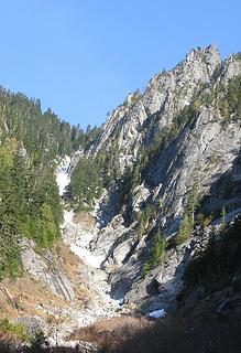 Quartz gully to Yin Yang Pass