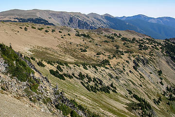 Scenery along Lillian Ridge