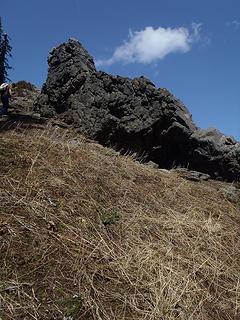 Final rocky ascent