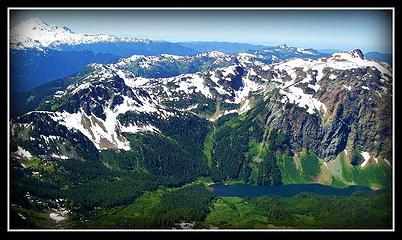 Mt Baker, Tomyhoi Lake and Peak