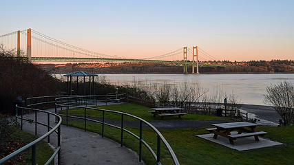 February - Tacoma Narrows Bridge from Tacoma Narrows Park