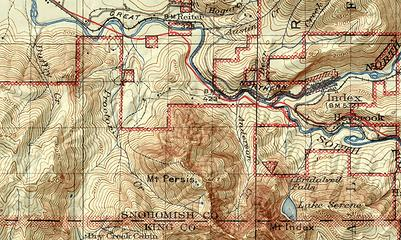 Early Forest Service map