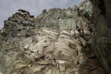 35. You'll see this point with the white band; summit is a ways to the right