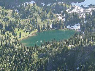 Upper Crystal Lake from Crystal Peak.
