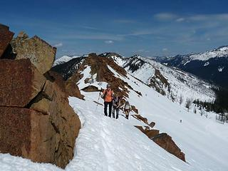 Last ridge to the summit of High Chair