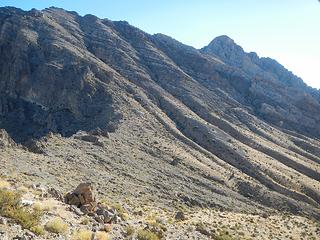 Muddy Peak seen from the saddle