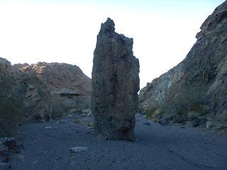 rotten 20 foot high rock fin