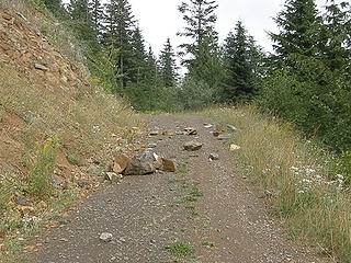 Rock slide further down after closed section.