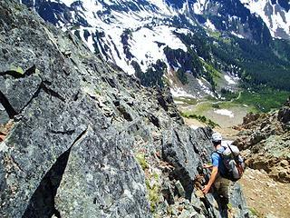 Gimpilator Down Climbing