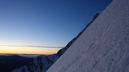 Twilight on the Zurbriggen Ridge