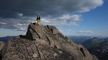 Elaine on the summit