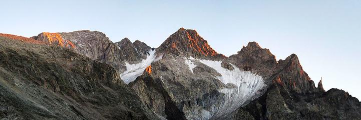 Sunset Panorama of Mount Wood from my bivy