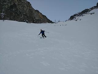Skiing down from Asgard