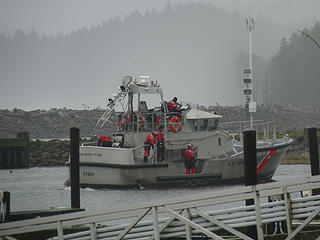 Coast Guard coming in from the surf
