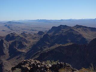 Eagletail Mtns far distance