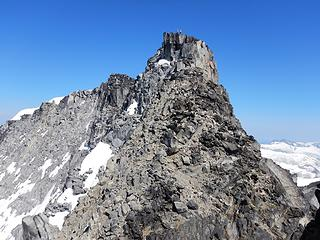 climbers on the main central peak