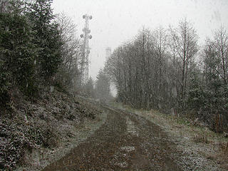 Snowing on the summit