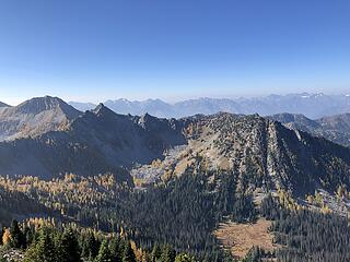 On summit of Baldy looking west