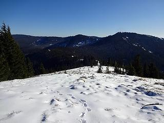 Marks Butte and Freezeout Ridge.