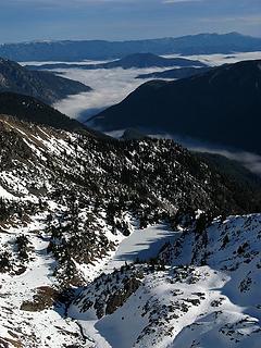 Rock Lake & valley clouds eastward