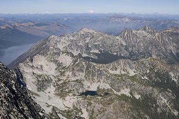 Horseshoe Lake, Jack Ridge, Eightmile, & Glacier in the distance