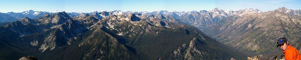 Hock summit pan looking west
