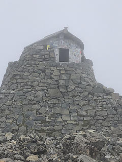 Hut on top of Ben Nevis