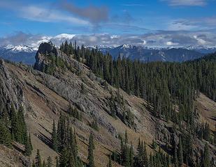 View to east ridge of West Peak
