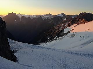 sunset on middle cascade