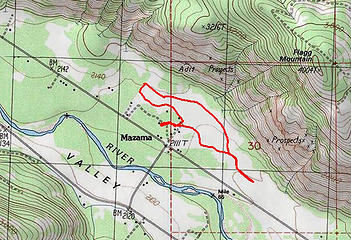 Mazama-route