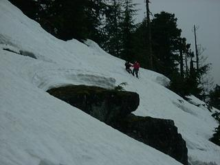 Snowfield traverse
