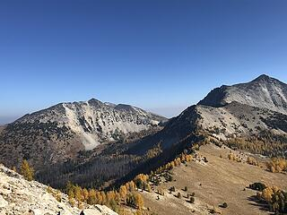 Baldy saddle below - looking north to Star and Courtney