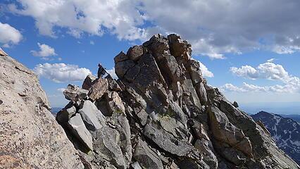 Class 4 ridge closer to summit
