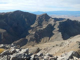 Muddy Mountain seen from Muddy Peak