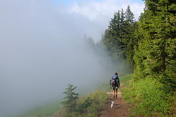 Clouds stopping at the trail