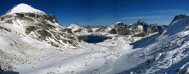 Maude & Upper Ice Lake Basin from Ice Pass