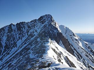 the traverse (check out those cornices!) and summit block
