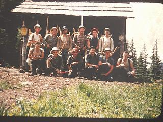 fire crew at Boulder Shelter