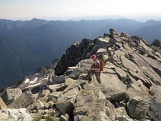 Carla on the crest below Gunnshy summit