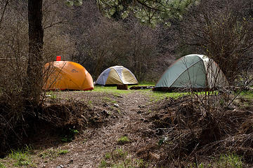 Camp at Potters Flat along the West Fork Rapid River Trail, Seven Devils Mountains, Idaho.
