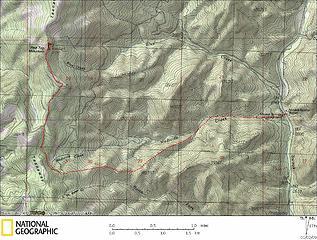 Redtop via Medicine Creek Route Map
