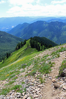 The trail down