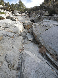 steep granite slabs