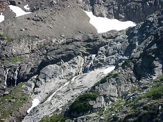 Close-up of glacier run off