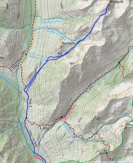 map of route from camp